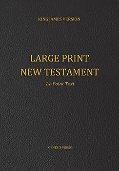 Large Print New Testament 14-Point Text Black Cover KJV
