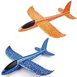 REYOK 2pcs Lancio a Mano Aereo,Aeromodello Aliante per Bambini, Aliante Velivoli Aliante Manuale All'aperto Lancio Aliante Giocattolo per Bambini Ragazzi Ragazze