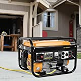 Lomelomme Gasoline Generator, Portable Power Station, 4000W Gas Powered Portable Generator Engine, Outdoor Generators Backup Power Supply,Power Station Electric Machine for Home Outdoor Camping