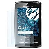 Bruni Pellicola Protettiva Compatibile con Sony-Ericsson Xperia X10 Mini PRO Pellicola Proteggi, Cristallino Proteggi Schermo (2X)