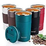 KETIEE Taza de Café,510ml Taza de Viaje Aislada,Taza Térmica Reutilizable,Tazas de Café de Doble...