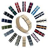 CIVO Natoストラップ Nato Strap 18mm 20mm 22mmプレミアムBallisticナイロン時計バンド Nylon Watch Band G10 時計ストラップ 簡単交換ベルト Watch Strap ステンレスバックル 取り替え工具付(一つのバネ棒外しと四つのサイズ近くのバネ棒を提供いたします) 交換マニュアル付 マルチカラー選択 (ネイビー クリムゾン アイボリー, 18mm)