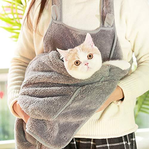 Ckssyao Pet Strap - Hands-Free Suede-weiche Schulter-Beutel-beiläufiger Out Rucksack - Geeignet für Welpen, kleine Hunde und Katzen für Outdoor-Reisen,Grau