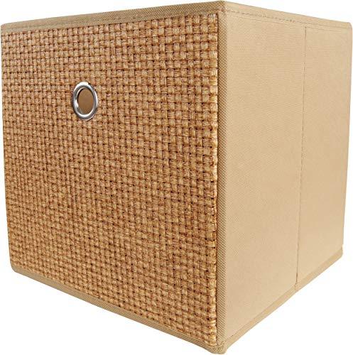 Mixibaby - Caja Plegable para estantería, Aspecto de Piedra