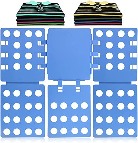 HOOM Carpeta T-Shirt Board Flip Organizador de lavandería Fácil y rápido para niños y Adultos para Doblar la Ropa Azul