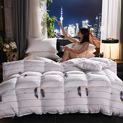 CHOU DAN Down Duvet,Cotton Rain-Proof Cloth Duvet 95 White Goose Down Quilt-C_200x230 3000g