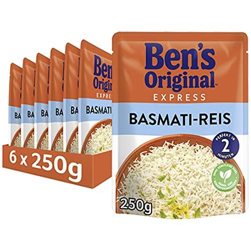 Ben's Original Express-Reis Basmati Reis, 6 Packungen (6 x 250g)