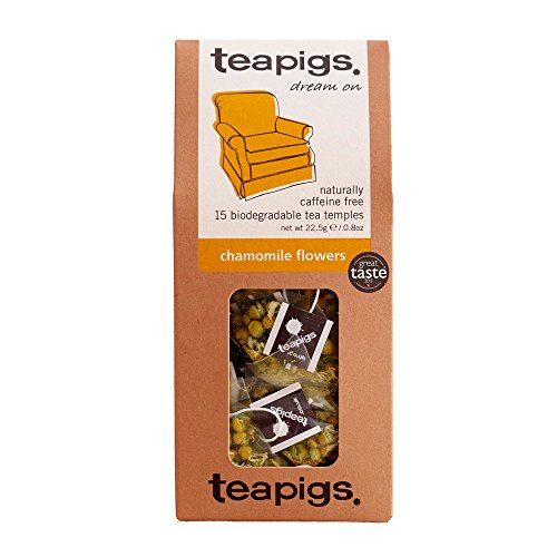 Teapigs Chamomile Flowers Tea Bags Made with Whole Flowers (1 Pack of 15 Tea Bags)
