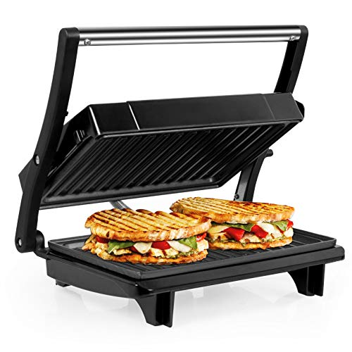 OZAVO Sandwichera Grill Panini & Toast, Parrilla Eléctrica, Placas de Grill Antiadherentes,...