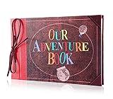 Pulaisen Álbum de recortes de aventuras, con caja de regalo de Navidad, hecho a mano, con diseño retro, para familia, con caja de regalo (nuestro libro de aventuras estilo retro)