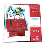 Peanuts Gang And Snoopy Christmas Cards, 24 pack with envelopes (Snoopy Napping On House)