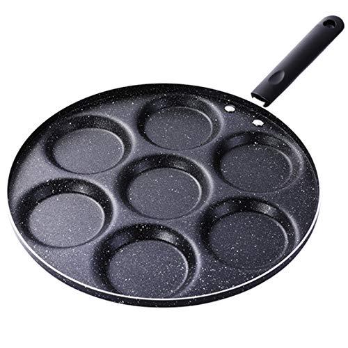 7-Cup Pancake Pan Sarten Para Huevoshamburguesa Tortilla Pan Antiadherente Sartén Herramienta Para Hornear Pasteles