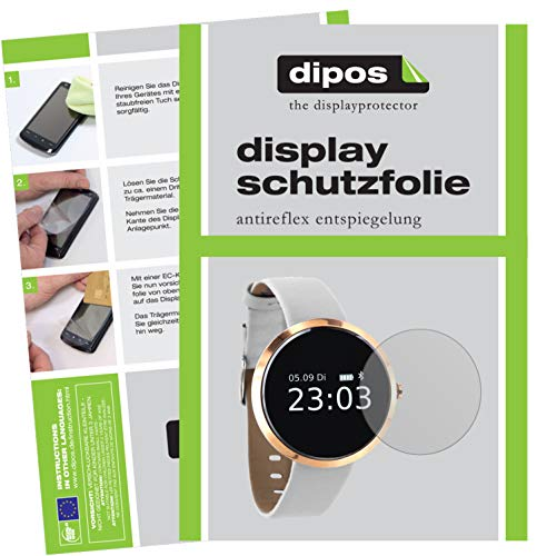 dipos I 6X Schutzfolie matt kompatibel mit X-Watch SIONA Smartwatch Folie Displayschutzfolie