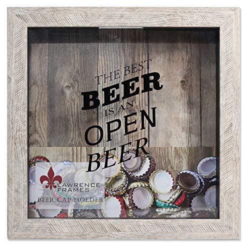 Lawrence Frames 10x10 Weathered Birch Beer Cap Holder Shadow Box