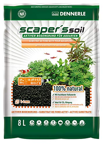 Dennerle Scaper's Soil Bodengrund 8 l - ideal für Aquascaping Aquarien