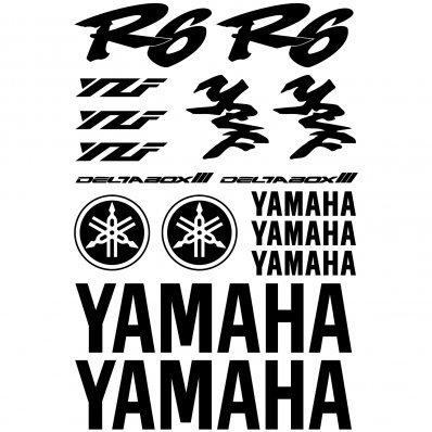 Adhesivo Pegatina Adhesivo Sticker texto y logo varias dimensiones ,,Kit Adesivo Yamaha R6 v2,, (AMARILLO): Amazon.es: Oficina y papelería
