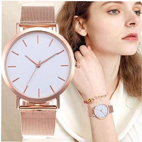 Relojes De Mujeres Simple Rose Manera De Mujeres del Reloj De Lujo De Señoras Mujeres del Reloj De Pulsera