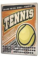 カレンダー Perpetual Calendar Retro Tennis Tin Metal Magnetic