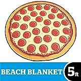 BigMouth Inc Giant Pizza Beach Blanket, Oversized Beach Towel, Ulta-Soft Microfiber Towel, 5 Feet Wide, Washing Machine Friendly