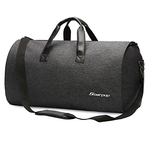 Soarpop Anzugtasche 2-in-1 Kleidersack, Schwarz, 45L Umhängetaschen Herren Reisetasche Groß (H9983DGY)
