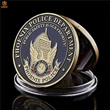 Momoso_store St. Michael Phoenix Police Department American Theme Bronze Token Challenge Coin Collectibles, repilica Toys