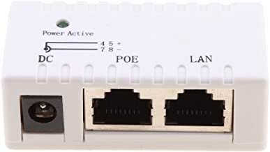 Dolity 2Port LAN POE Power Over Ethernet Injector Adapter For AP IP Camera Access - white, as described