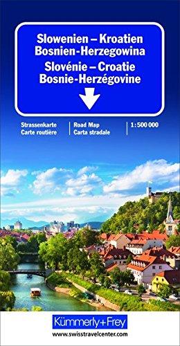 Slowenien - Kroatien - Bosnien-Herzegowina: Strassenkarte 1:500000 mit Sehenswürdigkeiten (Kümmerly+Frey Strassenkarten)