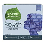 SEVENTH GENERATION Free & Clear Regular Tampons with Applicator, 18 CT