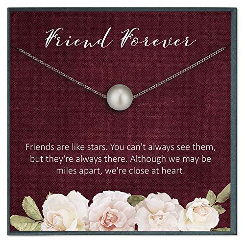 Grace of Pearl - Collar de Amistad de Larga Distancia para Mejor Amigo LDR Regalo para Mejor Amigo, para Mujer, Cita a Larga Distancia