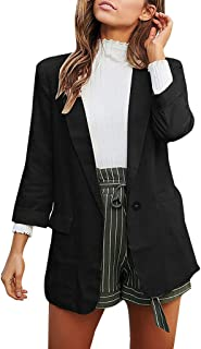 iHHAPY Casual Blazer Women's Suit Jacket Long Sleeve Blazer Business Office Jacket Suits Coat Oversized Elegant Blazer