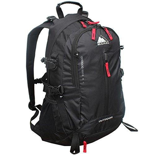 Cox Swain Air Flow Rucksack Navajo Schule & Uni Daypack mit Laptopfach sowie Trecking Rucksack, Colour: Black/Black