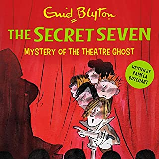 Mystery of the Theatre Ghost     The Secret Seven, Book 17              By:                                                                                                                                 Pamela Butchart,                                                                                        Enid Blyton,                                                                                        Tony Ross                               Narrated by:                                                                                                                                 Esther Wane                      Length: 3 hrs and 2 mins     1 rating     Overall 5.0