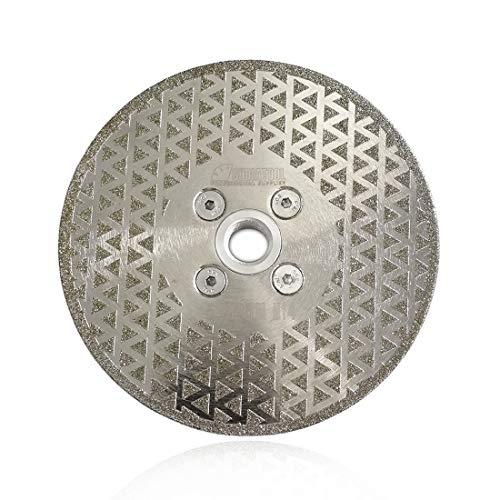 SHDIATOOL Disco Diamante 125mm Electrochapado Hoja de Sierra para Corte y Esmerilado Piedra Granito Mármol Azulejo