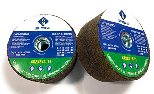 SIGNI 4-Inch Green Grinding Stone with 5/8-11 Thread (24 Grit)