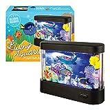 Global Gizmos, luce LED a batteria con piccolo acquario vivente, plastica, nero
