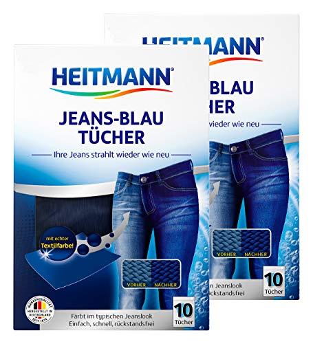 Heitmann Jeans Blau Tücher (10 Tücher, Blau), 2er Pack:...