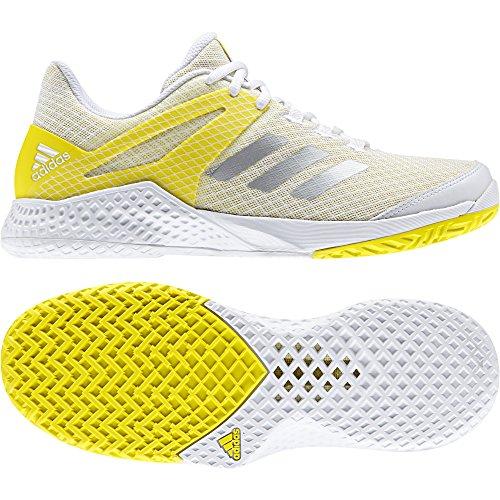 adidas Adizero Club W, Zapatillas de Tenis Mujer, (Ftwbla/Plamet/Amabri), 37 1/3 EU