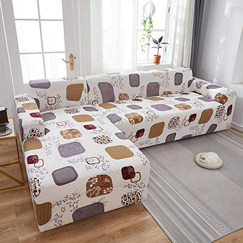 Fsogasilttlv Protector de Sofá Antideslizante 2 plazas, Funda de sofá elástica elástica de Color sólido, Fundas de sofá para sofás universales para Sala de Estar X