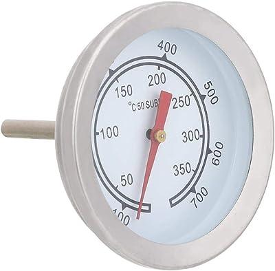 100~700 ℉ BBQ Termómetro Calibrador de temperatura Acero inoxidable Doble escala Parrilla Termómetro Calibrador de temperatura Barbacoa