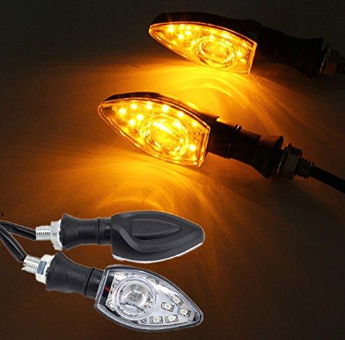 FEZZ LED Blinker Motorrad e Geprüft, Roller Blinker, Bernstein, 2 Packung