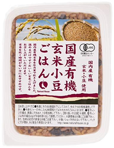 [ナチュラルハウス] レトルト 国産有機玄米ごはん小豆いり 160g  オーガニック パックご飯