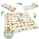 Manta de juegos para bebé, plegable, de espuma extragrande, reversible, no...