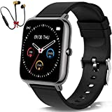 Smart Watch for Android Phones and iOS Phones Compatible iPhone Samsung, IP68 Swimming Waterproof Smartwatch Fitness Tracker Fitness Watch Heart Rate Monitor Smart Watches for Men Women -Black
