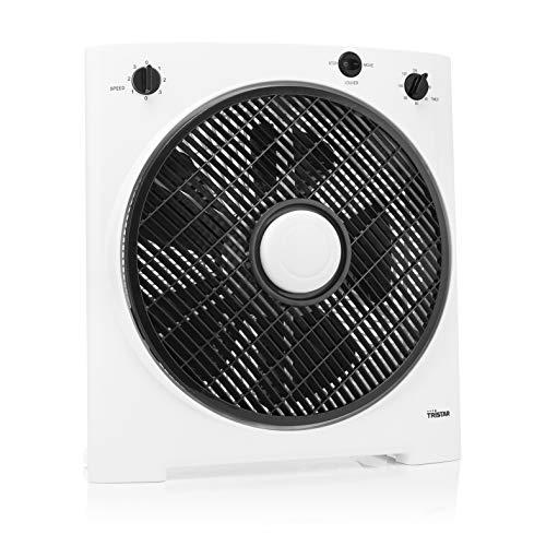 Tristar VE-5858 3 Leistungsstufen und oszillierendem Gitter, Drehrichtung des Luftstroms einstellbar, Timerfunktion für automatische Abschaltung, 30 cm Ø, 40 W, Weiß