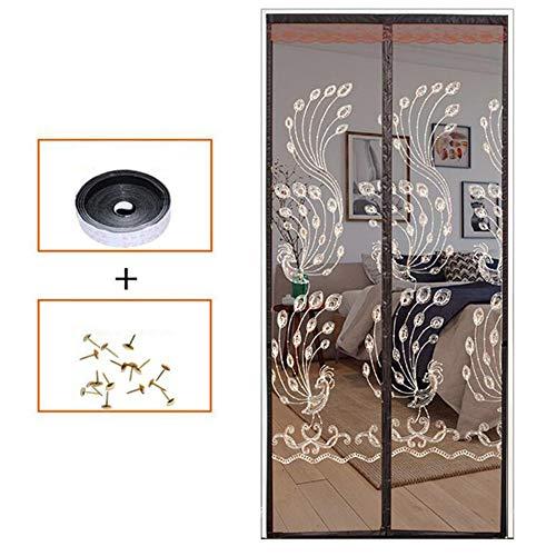 ZSHYP Magnetische vliegendeur, mesh-deurgordijn, geen gat, insectenwerende deur voor anti-muggen of anti-slip