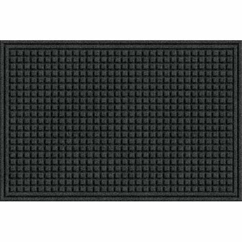 Apache Mills Eco Mat Squares Entrance Door Mat, 2-Feet by 3-Feet, Onyx