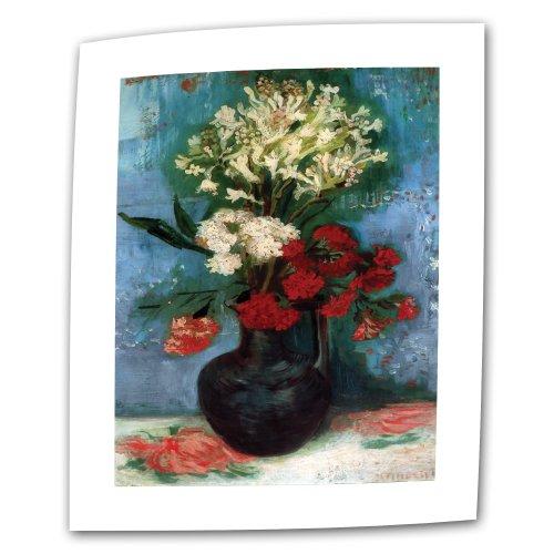 Artwall Kunstdruck auf Leinwand Vincent Vangogh 's Vase mit Nelken und andere Blumen, Galerie verpackt Leinwand, 18von 24