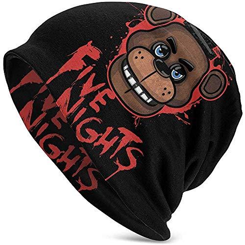 FNAF Five Nights at Freddy 's Men' s Knit Hat Cuffed Thin...
