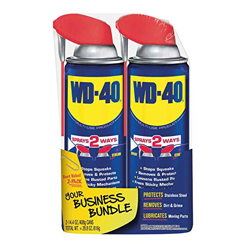 WD-40 - 490224 Multi-Use Product with SMART STRAW SPRAYS 2 WAYS, 14.4 OZ [2-Pack]