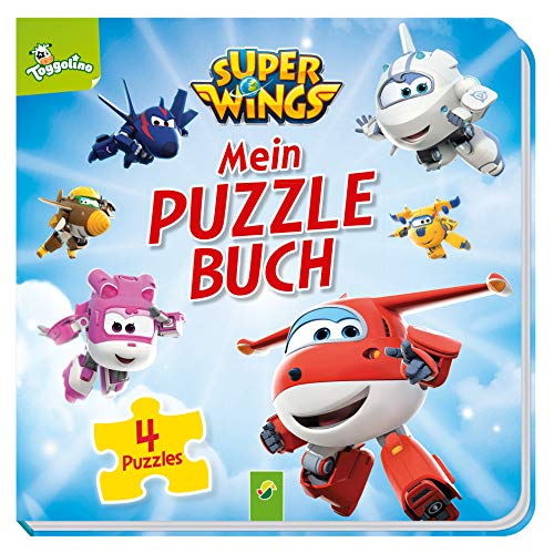 Super Wings Mein Puzzlebuch: 4 Puzzles mit je 12 Teilen